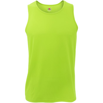 Vêtements Homme Débardeurs / T-shirts sans manche Fruit Of The Loom Performance Vert citron