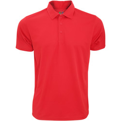 Vêtements Homme Polos manches courtes Fruit Of The Loom Performance Rouge