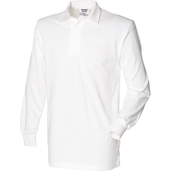 Vêtements Homme Polos manches longues Front Row Rugby Blanc