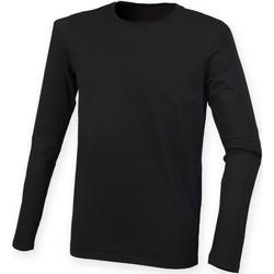 Vêtements Homme T-shirts manches longues Skinni Fit Stretch Noir