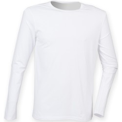 Vêtements Homme T-shirts manches longues Skinni Fit Stretch Blanc