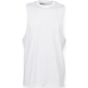 Vêtements Homme Débardeurs / T-shirts sans manche Skinni Fit High Neck Blanc