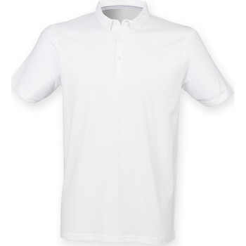 Vêtements Homme Polos manches courtes Skinni Fit SF440 Blanc