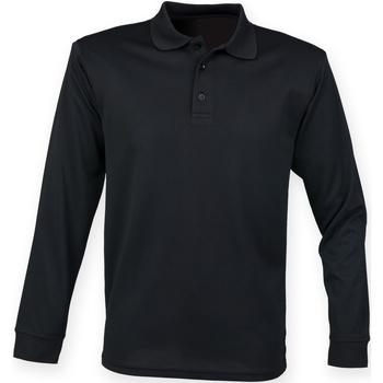 Vêtements Homme Polos manches longues Henbury HB478 Noir