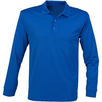Vêtements Homme Polos manches longues Henbury HB478 Bleu roi