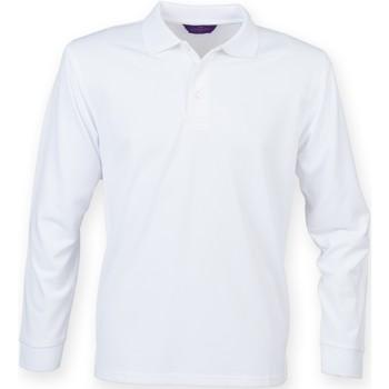 Vêtements Homme Polos manches longues Henbury HB478 Blanc