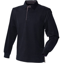 Vêtements Homme Polos manches longues Front Row Rugby Noir