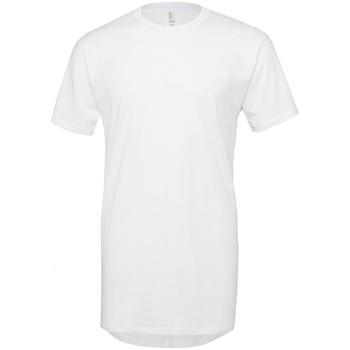 Vêtements Homme T-shirts manches courtes Bella + Canvas Long Body Blanc