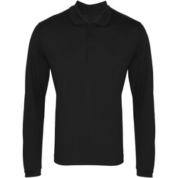 Vêtements Homme Polos manches longues Premier PR617 Noir