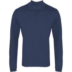 Vêtements Homme Polos manches longues Premier PR617 Bleu marine