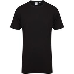 Vêtements Homme T-shirts manches courtes Skinni Fit Dipped Hem Noir