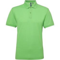 Vêtements Homme Polos manches courtes Asquith & Fox Performance Vert citron