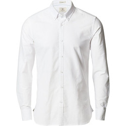 Vêtements Homme Chemises manches longues Nimbus Slim Fit Blanc