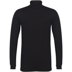Vêtements Homme T-shirts manches longues Skinni Fit Roll Neck Noir