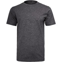 Vêtements Homme T-shirts manches courtes Build Your Brand Round Neck Gris foncé