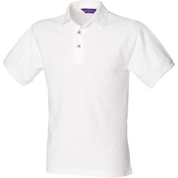 Vêtements Homme Polos manches courtes Henbury HB410 Blanc