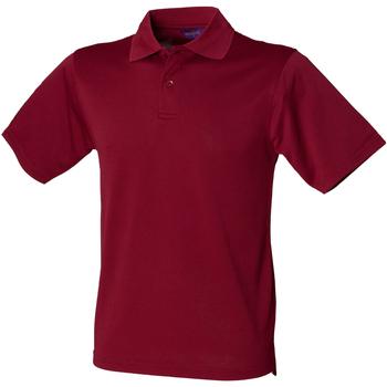 Vêtements Homme Polos manches courtes Henbury HB475 Bordeaux