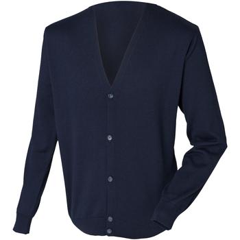 Vêtements Homme Gilets / Cardigans Henbury HB722 Bleu marine