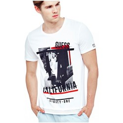 Vêtements Homme T-shirts manches courtes Guess Tee-Shirt Just For a Night Blanc