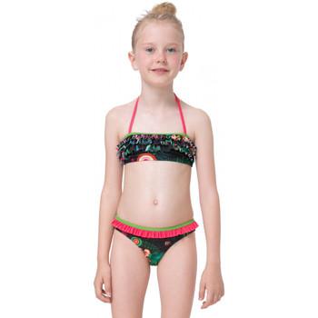Vêtements Fille Maillots / Shorts de bain Desigual Maillot de bain 2 pièces rayitas Vert 74M35E4 25