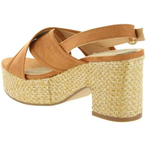 58545 OLIVIA C39070 CUERO  MTNG  sandales et nu-pieds  femme  marrón