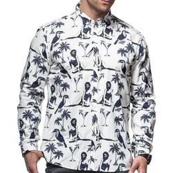 Vêtements Homme Chemises manches longues Minimum RAMON Blanc
