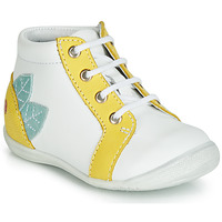 Chaussures Fille Baskets montantes GBB FRANCKIE Blanc / Jaune