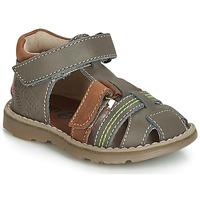 Chaussures Garçon Baskets montantes GBB SEVILLOU VTE GRIS-FAUVE DPF/TRONY