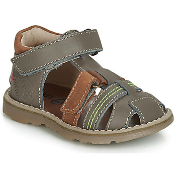 Chaussures Garçon Sandales et Nu-pieds GBB SEVILLOU Gris / Marron
