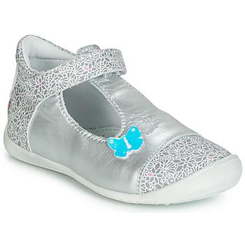 Chaussures Fille Baskets montantes GBB MERCA CTV ARGENT-IMP GRIS DPF/KEZIA