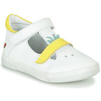 Chaussures Fille Ballerines / babies GBB ARAMA VTE BLANC-JAUNE DPF/TRILLY