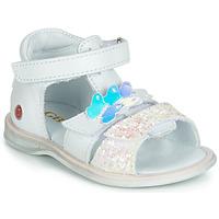 Chaussures Fille Sandales et Nu-pieds GBB MESTI Blanc / Argenté