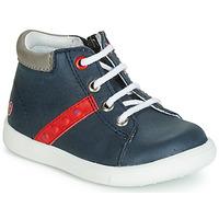 Chaussures Garçon Baskets montantes GBB FOLLIO Marine / Rouge