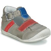 Chaussures Garçon Baskets montantes GBB BALILO VTE GRIS-ROUGE-BLEU DPF/RAIZA