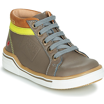 Chaussures Garçon Baskets montantes GBB QUITO Gris / Jaune