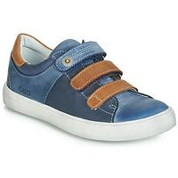 Chaussures Garçon Baskets basses GBB POMMOR Bleu / Marron