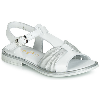 Chaussures Fille Sandales et Nu-pieds GBB MESSENA Blanc / Argenté