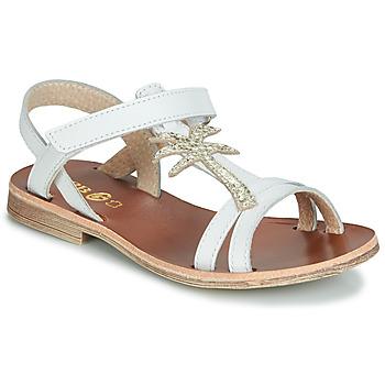 Chaussures Fille Sandales et Nu-pieds GBB SAPELA Blanc / Doré