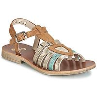 Chaussures Fille Sandales et Nu-pieds GBB FANNI Marron / Doré