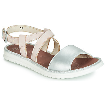 Chaussures Fille Sandales et Nu-pieds GBB ADRIANA VTE ROSE-ARGENT DPF/FULVIA