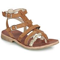 Chaussures Fille Sandales et Nu-pieds GBB NOVARA VTE FAUVE-OR DPF/COCA
