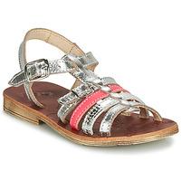 Chaussures Fille Sandales et Nu-pieds GBB BANGKOK VTE ARGENT-FLUO CORAIL DPF/COCA