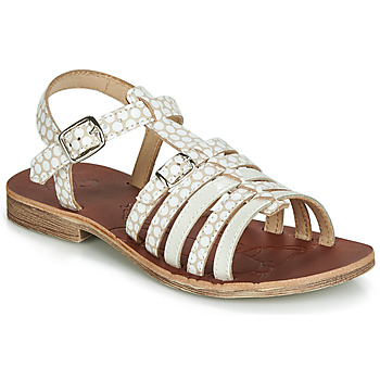 Chaussures Fille Sandales et Nu-pieds GBB BANGKOK Blanc / Beige
