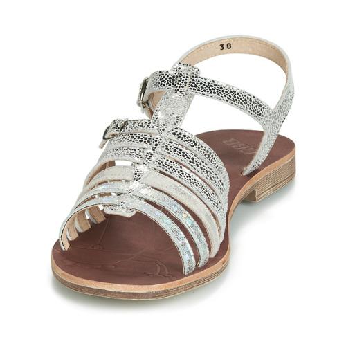 Gbb Bangkok Argenté - Livraison Gratuite- Chaussures Sandale Enfant 6500