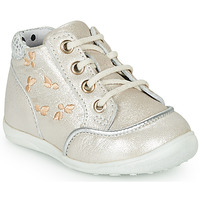 Chaussures Fille Baskets montantes Catimini BALI VTE BEIGE-ARGENT DPF/GLUCK