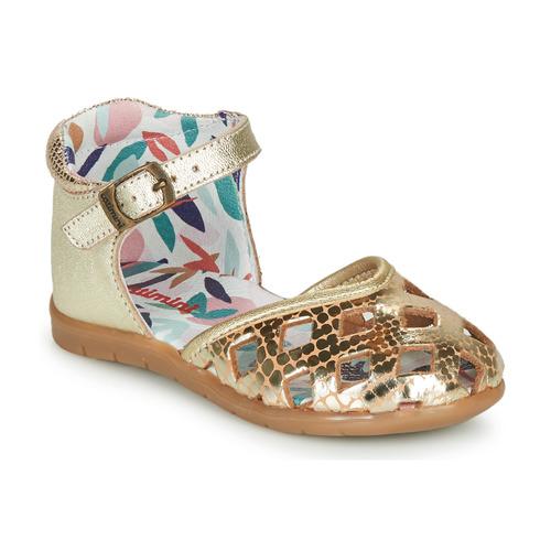 Chaussures Fille Ballerines / babies Catimini NAYA Doré