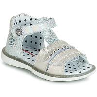 Chaussures Fille Sandales et Nu-pieds Catimini BIRA Argenté / Beige