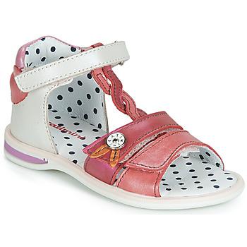 Chaussures Fille Sandales et Nu-pieds Catimini GOROKA Sable / Rouge