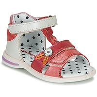 Chaussures Fille Sandales et Nu-pieds Catimini GOROKA Blanc / Rose