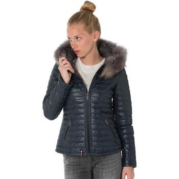 Vêtements Femme Doudounes Oakwood HAPPY BLEU 531 Bleu